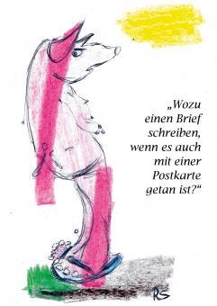 """Postkarte """"Wozu?"""" René Seim"""