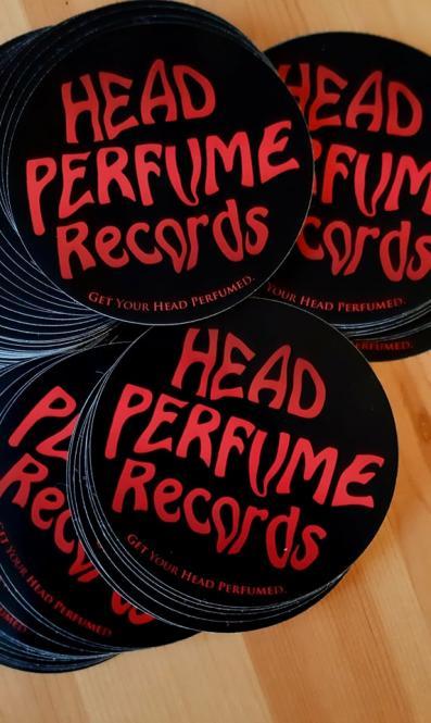 Head Perfume Records Aukleber rund, 9 cm (1 Stck.)